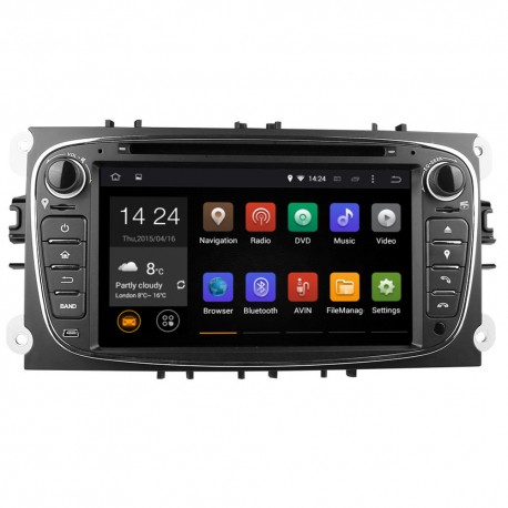 Autoradio Android 5.1  GPS Ford Mondeo, Focus, S-Max, Galaxy NOIR