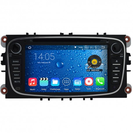 Autoradio Android Lollipop  GPS Ford Mondeo, Focus, S-Max, Galaxy NOIR