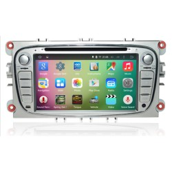 Autoradio Android Lollipop  GPS Ford Mondeo, Focus, S-Max, Galaxy gris