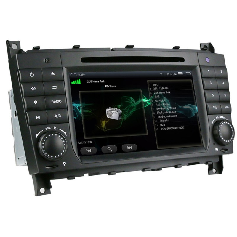 autoradio mercedes w203 autoradio gps bluetooth pour. Black Bedroom Furniture Sets. Home Design Ideas