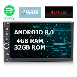 AUTORADIO GPS DOUBLE DIN -  ANDROID 8.0